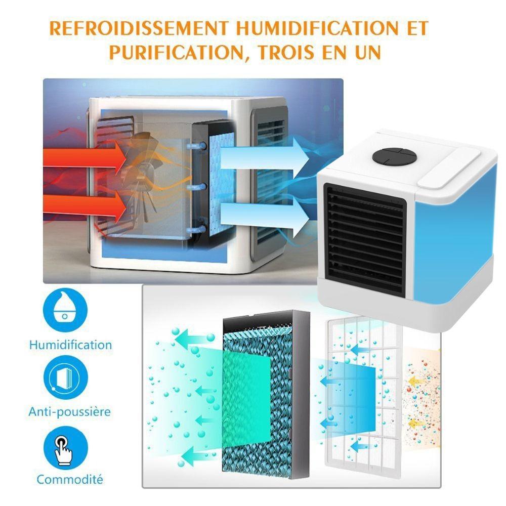 Mini USB Portable Air Conditioner Air Cooler Humidifier